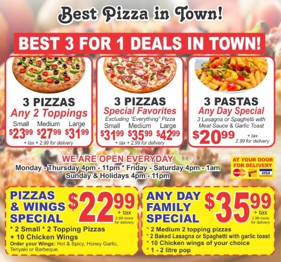 Check out our selection of quality 2 for 1 Pizza